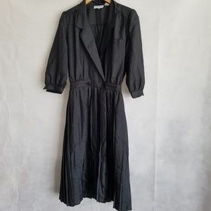 1980s Katie Lewis Black Dress